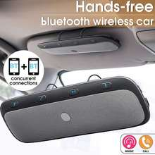 Speaker Car-Multipoint TZ900 Handsfree Calling Bluetooth Smartphones Wireless for Visor-Clip