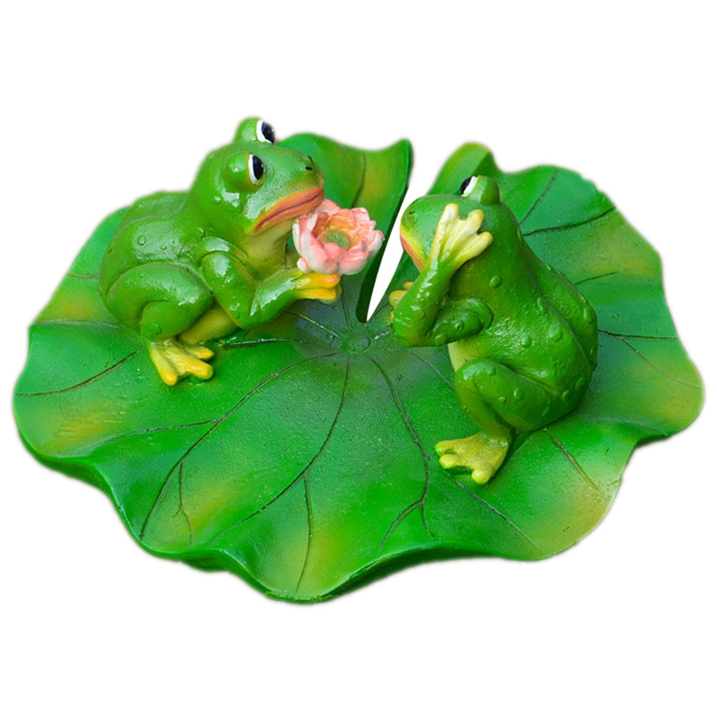Creative Resin Floating Frogs Statue Outdoor Garden Pond Decorative Cute Frog Sculpture for Home Garden Fish Tank Decor Ornament|Figurines & Miniatures| |  - title=