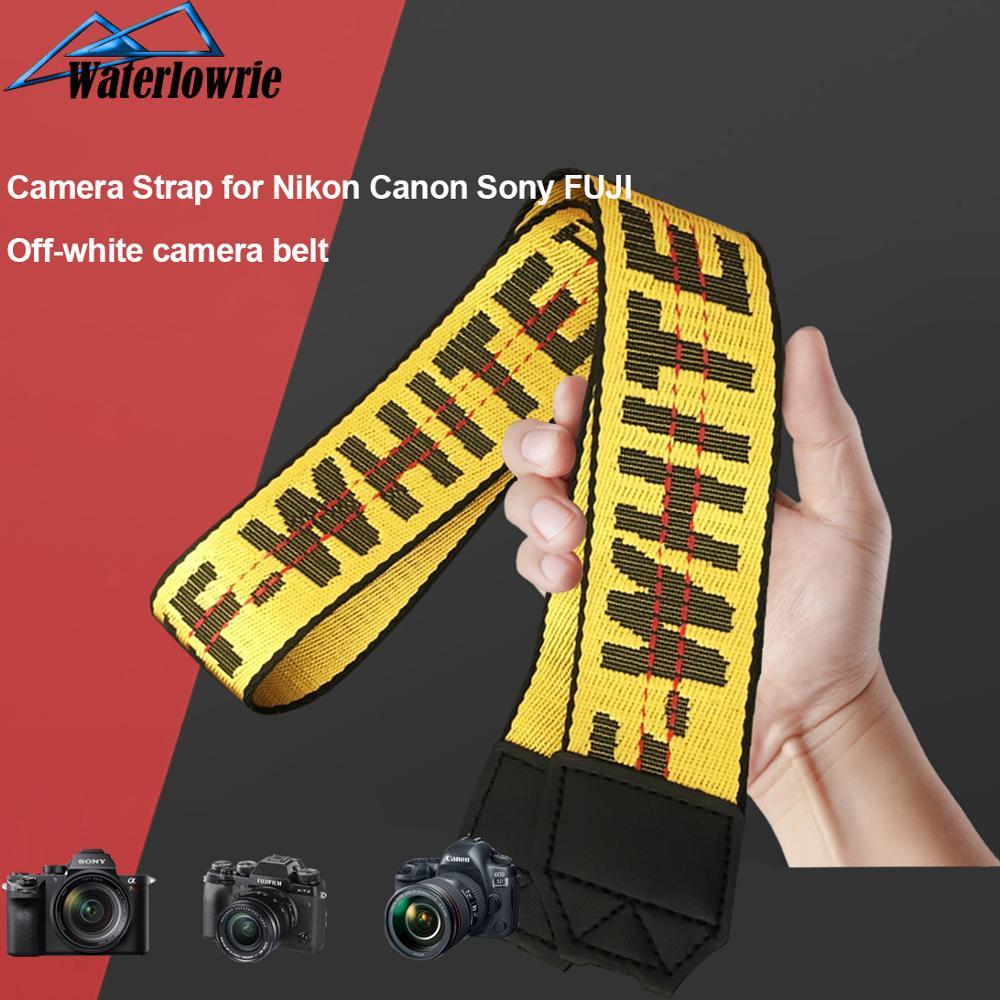 Off-white Camera Strap Offwhite Neck Belt Off White Lanyard For DSLR Canon Nikon Pentax Fuji Sony Camera Accessories