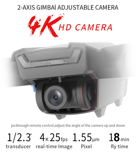 HGIYI G11 GPS RC Drone 4K HD Camera Quadcopter Optical Flow WIFI 2