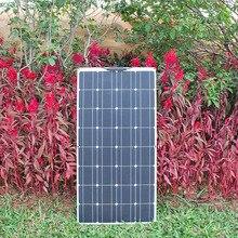 แผงพลังงานแสงอาทิตย์ที่มีความยืดหยุ่น100W 12Vแผงพลังงานแสงอาทิตย์Kit Solar Controller 10Aระบบพลังงานแสงอาทิตย์สำหรับเรือตกปลาcabin Camping