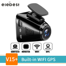 elebest Car DVR with GPS Tracker Fashion Design Dash Cam 1.5 Inch Mini WiFi 1080P  Phone APP Super Night Vision Parking Monitor