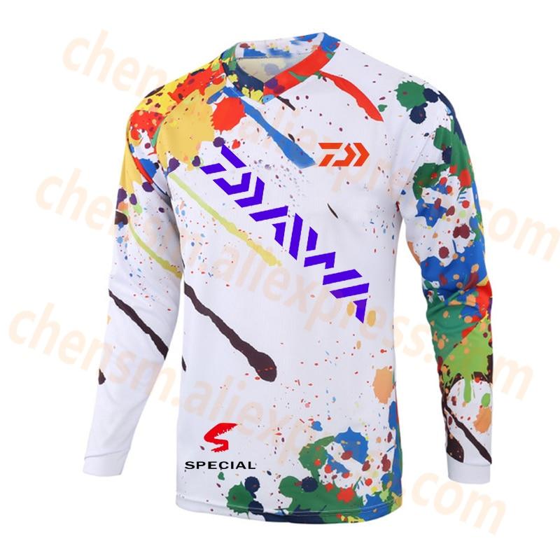 2020 DAIWA New Style Fishing Clothing Cool Max Sunscreen Anti-uv Breathable Coat Long Sleeve Summer Fishing Size XS-5XL Shirt