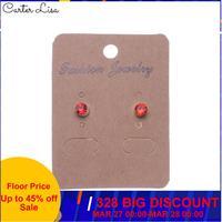 CARTER LISA vente chaude mode femmes cristal boucles d'oreilles minuscule Simple couronne boucles d'oreilles parti pendientes bijoux livraison gratuite