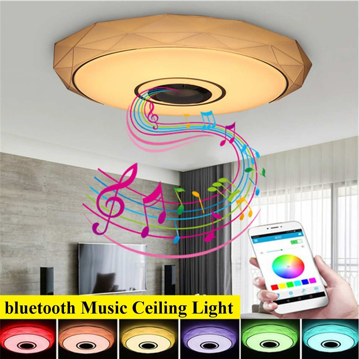 36W RGB Smart APP Control LED Ceiling Lights bluetooth Music  for Home Decor Party
