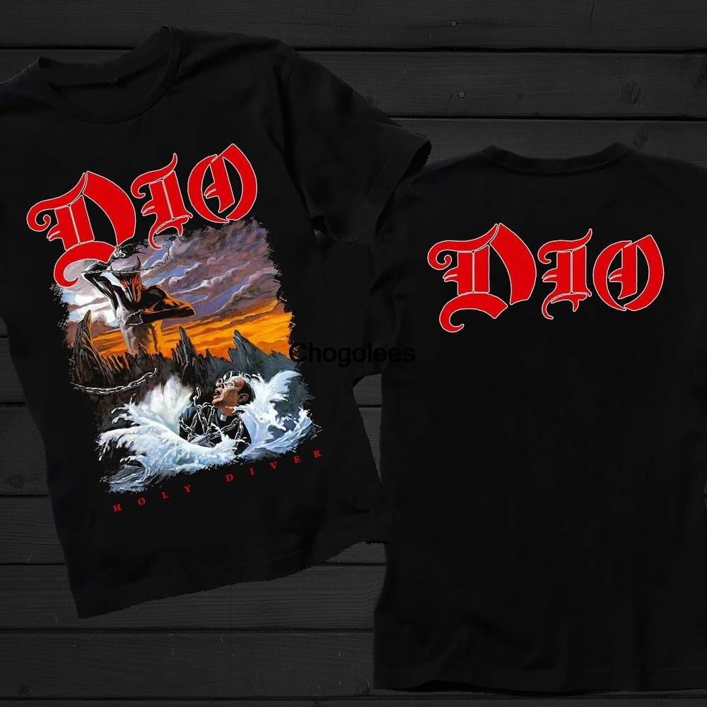 Рубашка DIO Holy Diver из тяжелого металла, жесткая рок-группа, черная, размеры от 7XL