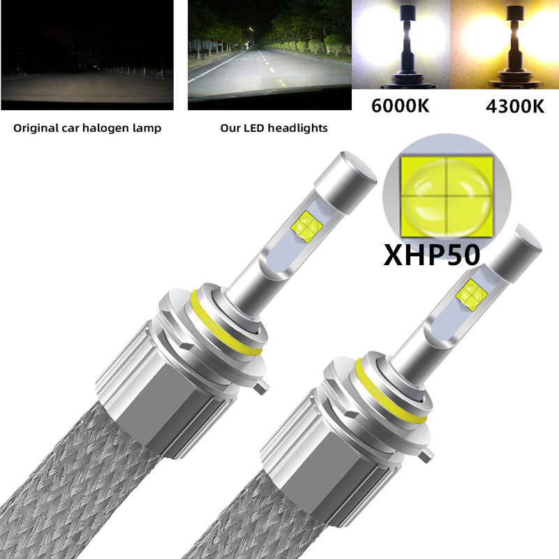 H7 LED H4 Car Lights Bulb 110W 12000LM XHP50 Chips Auto LED Headlight Lamp D2S H1 HB4 H3 H8 HB3 H11 9005 9006 4300k Fog Light