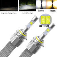 H7 LED H4 Car Lights Bulb 110W 12000LM XHP50 Chips Auto LED Headlight Lamp D2S H1 HB4 H3 H8 HB3 H11 9005 9006 4300k Fog Light