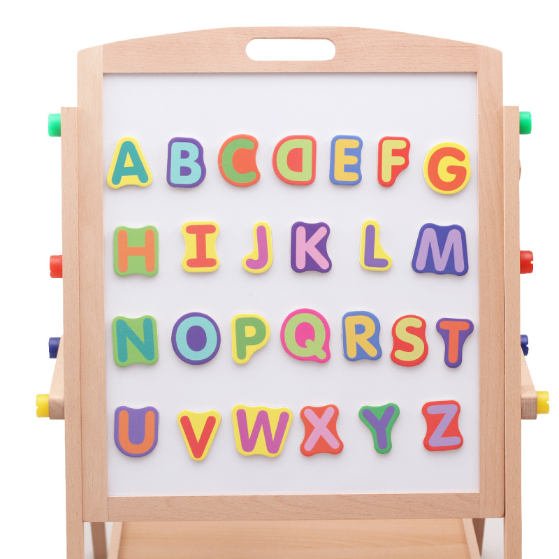 CHILDREN'S Toy Building Blocks Double-Sided Learning Drawing Board With Numbers Lettered Tile Educational Toy