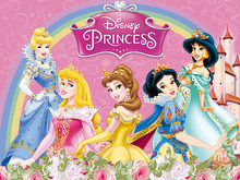 Disney princesa festa backdrops cortina photobooth pano de fundo decorações de parede festa de aniversário das crianças pano de fundo