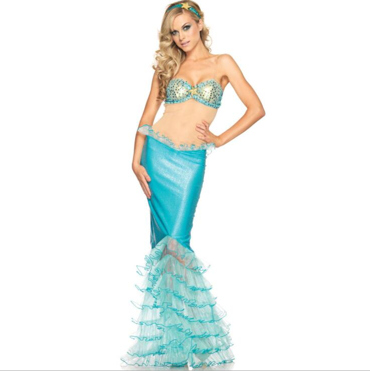 <font><b>Sexy</b></font> mermaid dress anime cosplay disfraz <font><b>halloween</b></font> <font><b>costumes</b></font> <font><b>for</b></font> <font><b>women</b></font> mujer disfraces fantasia <font><b>blue</b></font> image