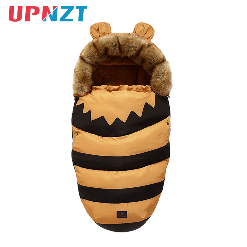 New Bee Infant Winter Cotton Flannel Stroller Footmuff Baby Sleeping Bag Thick Warm Wheelchair Sleepsacks Stroller Sleeping Bag