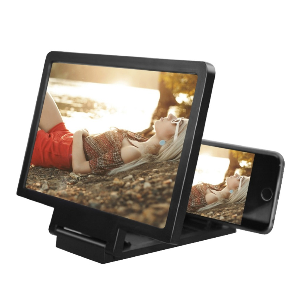 Mobile Phone Universal Holder 3D Screen Amplifier 3X Zoom Magnifying Glass HD Stand For Anti-radiation Video Holder