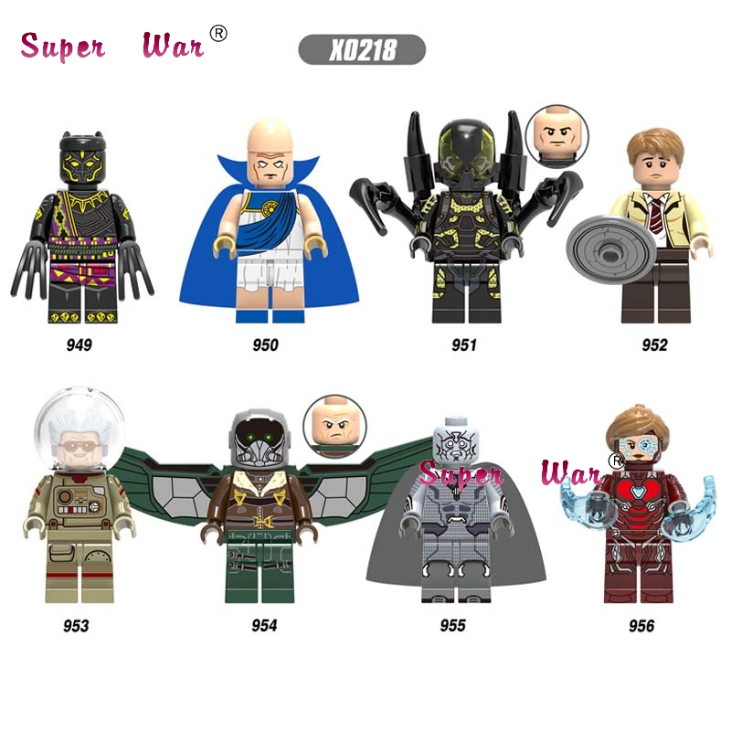 Single Infinity War T'Chaka Observer Yellow Jacket Death Vision Pepper  Building Blocks Toy For Children