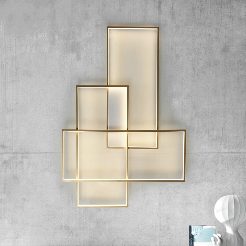 Modern Minimalist Wall Lamp Living Room Bedroom Wall Light Corridor Restaurant Bathroom Wall Candlle Lights Home Decor Lights