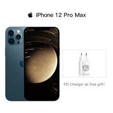 Аутентичный оригинальный новый iPhone 12 Pro Max 5G 6,7% 22 XDR дисплей A14 чип 12MP тройной задний камера IOS 14 смартфон водонепроницаемый