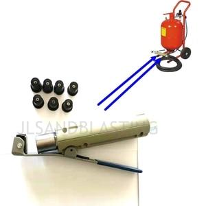 Image 5 - Luft Sandstrahlen Pistole für 5 20Gallon Mobile Sandblaser Tank Mit 7 Stück Düse Und 1 Kupfer Fitting