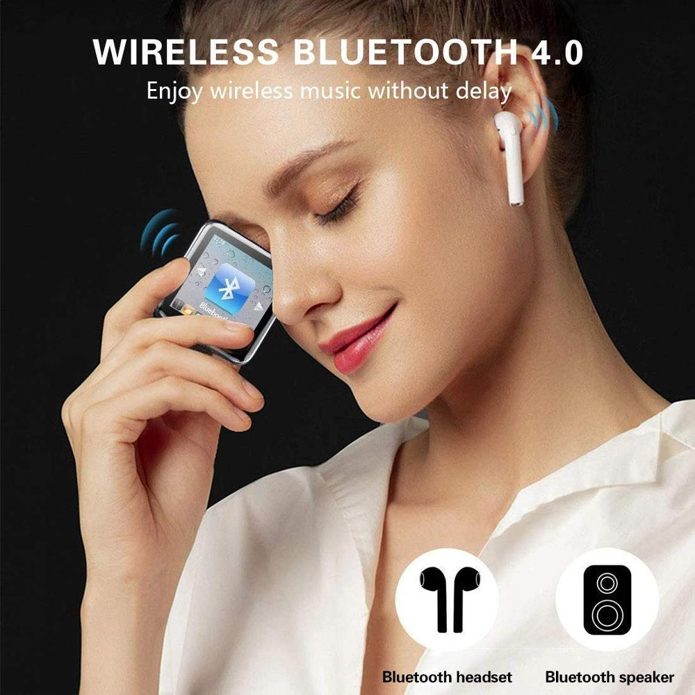 lowest price Mini Clip MP3 Player 1 5 In Touch Screen Bluetooth MP3 Player Portable Music MP3 Player HiFi Audio Player with FM Radio Function