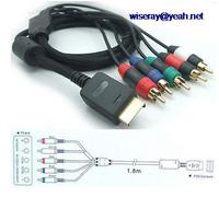 DHL/EMS 20pcs Set AV Video Audio Cable Component 5 RCA Plug for Play Station 3 & PS3 Console A8
