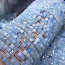 Аквамарин Аметист иолит прехнит Турмалин натуральный драгоценный камень граненый куб бусины 4,5-5 мм для изготовления ювелирных изделий 15,5 дюйма