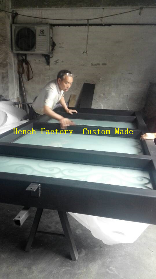 Shanghai Hench Brand China Factory 100% Custom Made Sale Australia Black Iron Screen Door