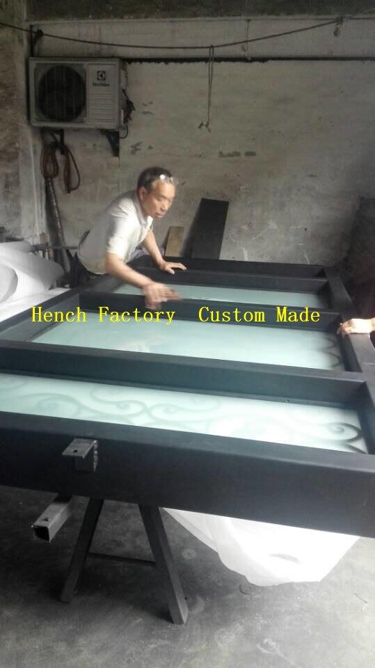 Shanghai Hench Brand China Factory 100% Custom Made Sale Australia Black Iron Screen Door