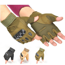 Us Army Men's Tactical Gloves Outdoor Sports Half Finger Mil