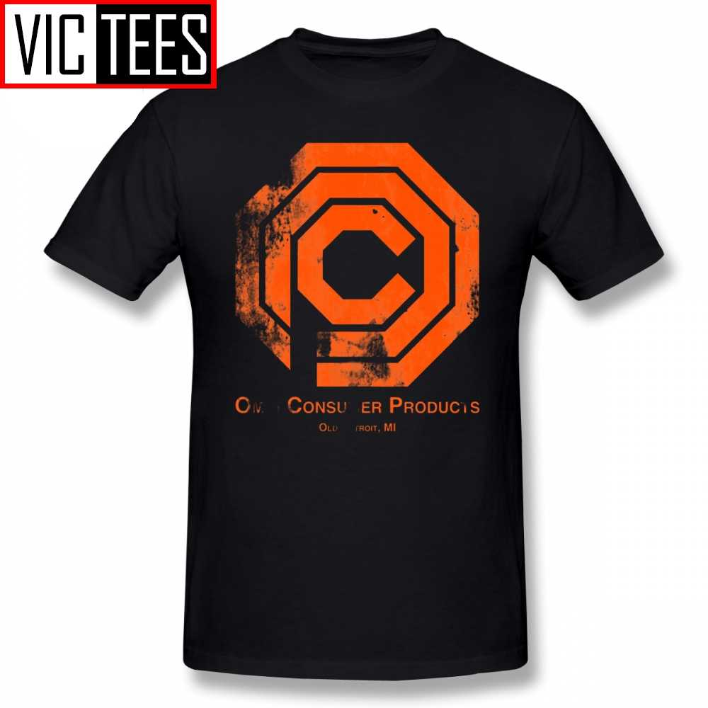 Mens Robocop T Camicette OCP Distressed T-Shirt Divertente 100% di T Del Cotone Della Camicia Più Il formato Uomo di Base Stampato Tshirt