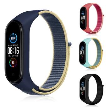 Bracelet for mi band 5 6 Strap Nylon Sport loop watch Belt pulsera correa Miband strap Wristband for xiaomi Mi band 4 3 Bracelet 1