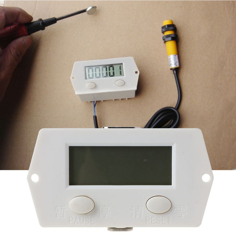 Цифровой электронный счетчик с 5 цифрами, дырокол, Магнитный Индуктивный