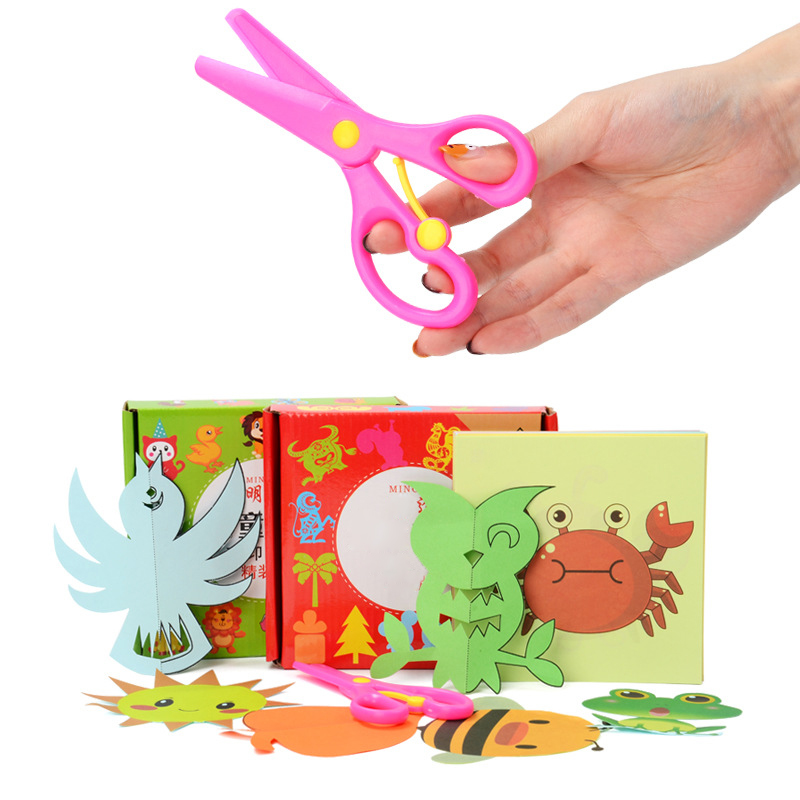 Kids Cartoon Paper Folding Cutting Toys Scissor Skills DIY Art  Craft Educational Toy Color Children Kindergarten Dropshipping