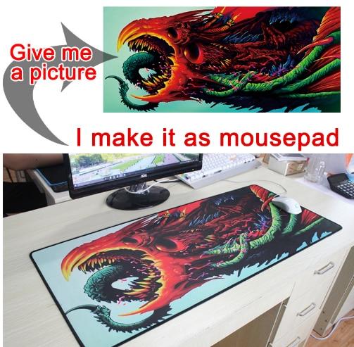 Mairuige personnaliser 180X90CM personnalisé grand jeu tapis de souris haute qualité bricolage image avec bord verrouillage XL épaissir 3mm