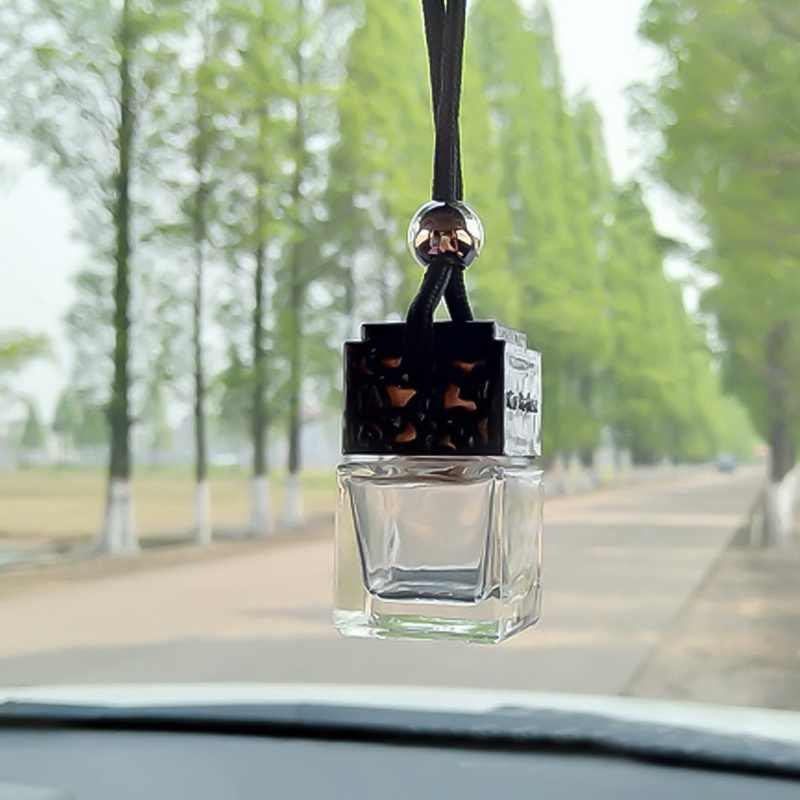 1 قطعة معطّر الهواء سيارة فارغة زجاج زجاجة السيارات سيارة معلقة رائحة معطّر الهواء سيارة زجاجة عطر