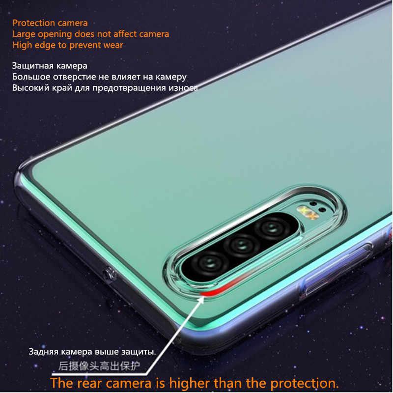 Caso para Samsung Galaxy S7 S8 S9 S10 S10e S10-5G capa de silicone Transparente para nota 8 9 10 J4/J6/J8/A7 2018 S7 Borda Quatro cantos