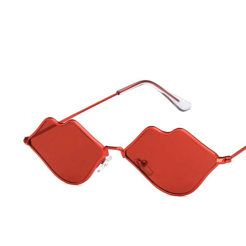 Mới 2019 Thời Trang Có Xu Hướng Dễ Thương Gợi Cảm Retro Kính Mát Nữ Thương Hiệu Thiết Kế Hình Môi Kính Chống Nắng Vintage Kính Mắt Đỏ Nữ UV400