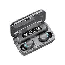 Novo f9 tws wilress fone de ouvido bluetooth 5.1 alta fidelidade mini esportes correndo fone apoio ios/android telefones hd chamada com microfone