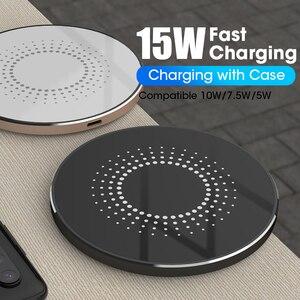 15 Вт Qi Быстрое беспроводное зарядное устройство для iPhone 11 11Pro Быстрая зарядка Pad для iPhone XR XS 8 Зарядные устройства 10 Вт беспроводной зарядный ...