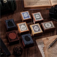 8PCS/LOT antique post office series stamp DIY wooden rubber stamps stationery scrapbooking standard stamp