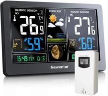 Estação meteorológica newentor sem fio indoor outdoor termômetro grande 7