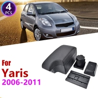 Car Center Console Box Armrest Box Rotatable Storage Box for Toyota Yaris Vitz Hatchback 2006   2011|Stowing Tidying| |  -