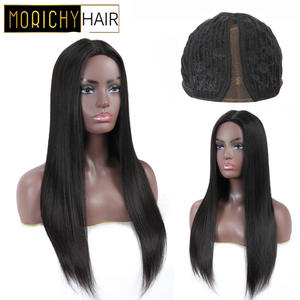 Morichy Wigs Straight for Female Natural-Black Human-Hair Lace Glueless Women Real 150%Density