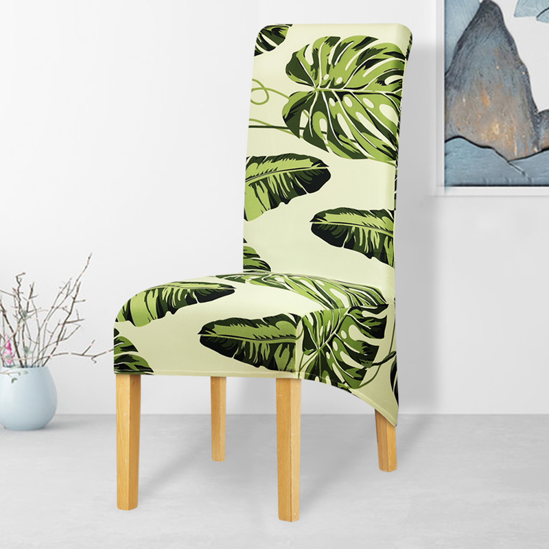 Leorate Printed Elastic Chair Cover Xl Size Long Back Europe Style Seat Covers Stretch Chair Covers