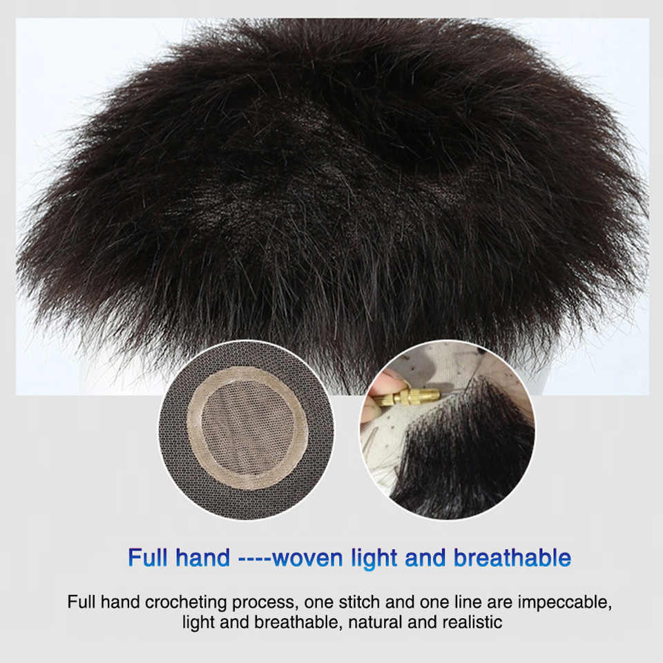 WTB Mann Toupet Mit hoher temperatur seide synthese Haar Material Haar Hand-made Topper Haarteil Top Stück Synthetische Comingbuy