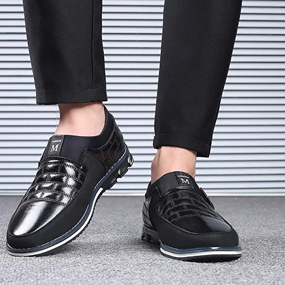 Image 5 - Оксфорды; кожаная мужская обувь; модная повседневная обувь без шнуровки; официальная обувь в деловом стиле; повседневная кожаная обувь для мужчин; Прямая поставкаПовседневная обувь   -