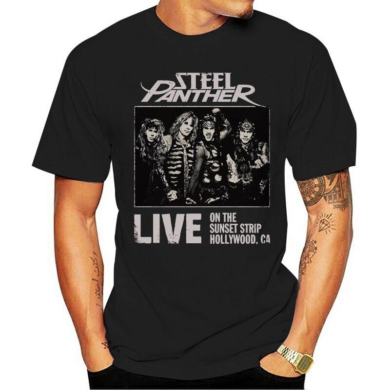 Aço panther-american glam metal band-tamanhos  manga curta moda 2021 t-shirt