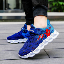 2019 Autumn Kids Led Shoes Spiderman Glowing Sneakers Boys