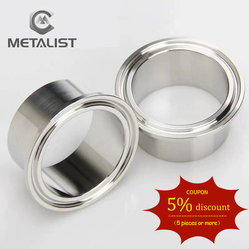 METALIST High Quality 19MM-89MM OD SS304 Stainless Steel Sanitary Pipe Weld Ferrule Tri Clamp Type
