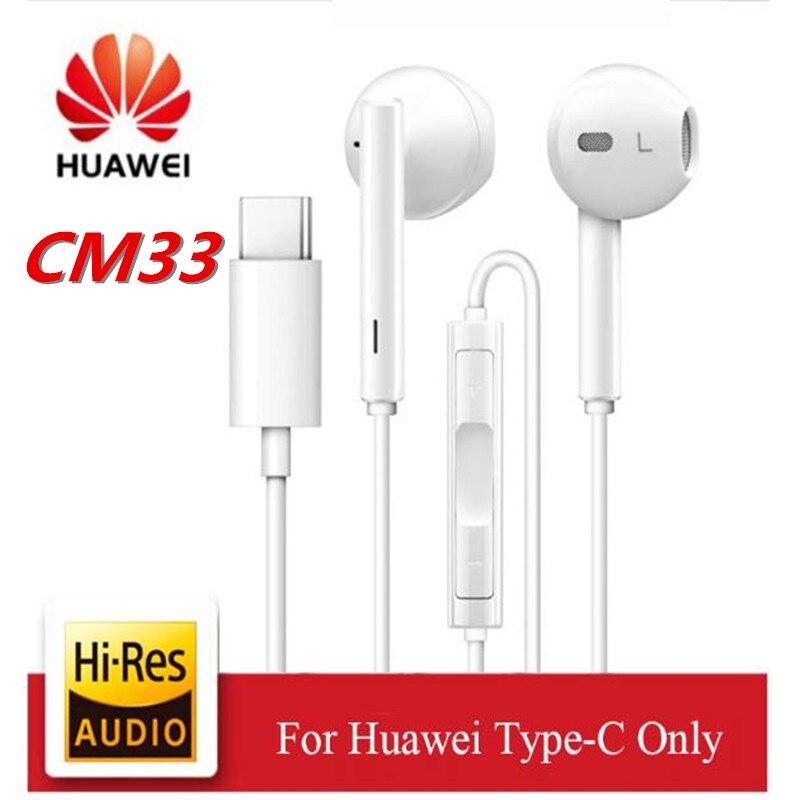 Наушники HUAWEI Type C CM33 с микрофоном и регулятором громкости для Mate 10 Pro P20 Por P30 p30 Pro XIAOMI MI 9 10 8 7 6 6X MIX2