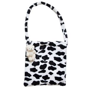 WoMan Lady Milk Cow Pattern Shoulder Bag
