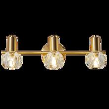 Lámparas de pared de latón postmodernas, accesorio de luz de cristal K9 de lujo de 2/3 cabezales, AC90-260V, nórdico, creativo, para dormitorio, luz para espejo de baño